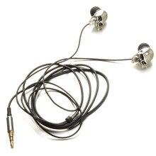 כסף גולגולת ראשי 3.5mm יציאת מתכת אוזניות Creative Wired אוזניות עבור iPads iPod טלפון MP3