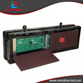 P10 Two Sides LED Display Screen  Red Color For Text  With Size W71 x H23cm
