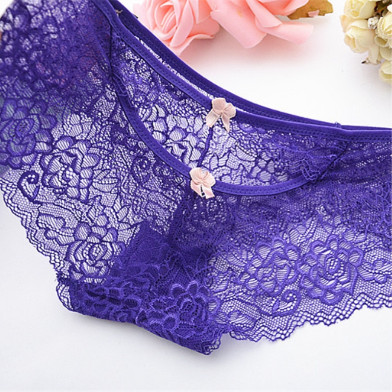 Hot Underwear Women Lace Calcinha Sexy Panties Seamless Briefs Breathable Underwear Hollow Panties Exotic Transparent Intimates