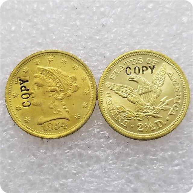 EUA (1840-1865)-P, C, D, S $2.50 LIBERDADE TRIMESTRE ÁGUIA MOEDAS de OURO