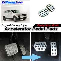 LitangLee Car Accelerator Pedal Pad Cover Foot Throttle Pedal Cover Sport Racing Model For Peugeot 3008 MK1 AT 2008~2016