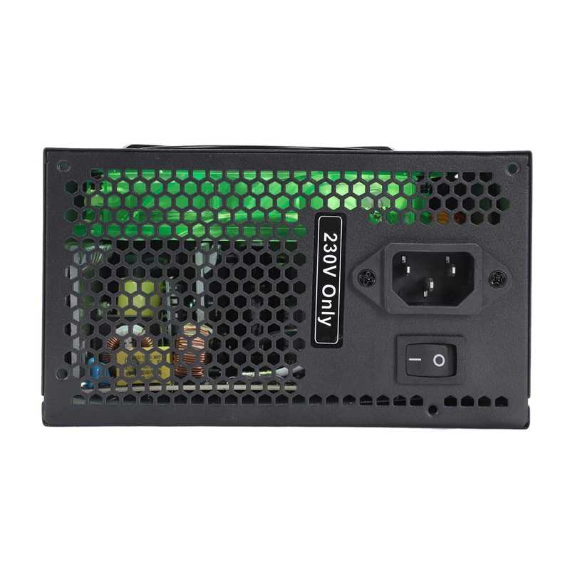 170-260 В Макс 500 Вт блок питания ПЗУ 12 см Pfc бесшумный вентилятор 24Pin 12 в ПК компьютер Sata игровой ПК блок питания подходит для Intel, подходит для AMD Com