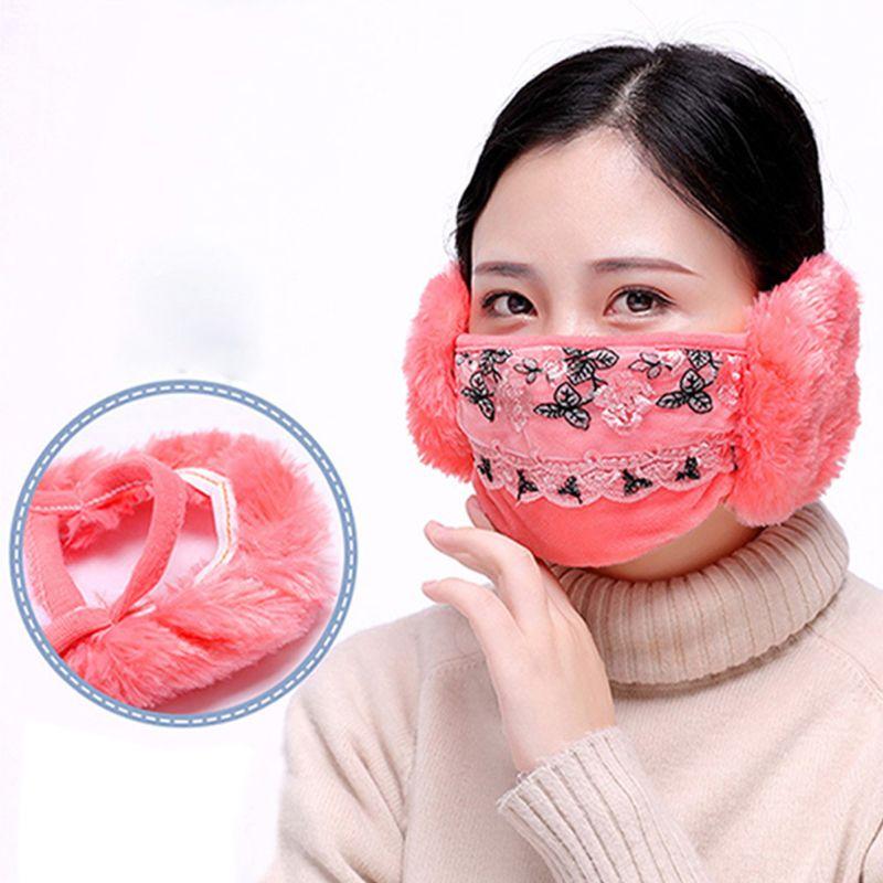 Bekleidung Zubehör MüHsam Neue Frauen Winter Staubdicht Maske Ohr Schutz Und Warm Halten Zwei-in-one Maske Mund Maske Dropshipping