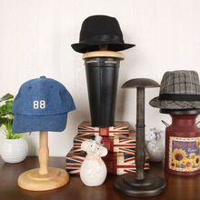 5pcs/lot Vintage Style Wooden Hat Display Rack Stand Wood Hat Hanger Cap Display Exhibition Stand Holder Free Shipping ZA419