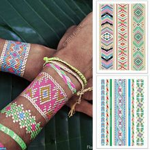 2pcs/lot Body Art Flash Tattoos Metallic Temporary Tattoo Color Flash Tatoo Sleeve Tatuagem Henna Paste Taty Shimmer Tattoo Gold