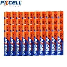 40 pces * pkcell lr03 3a baterias 1.5v aaa bateria alcalina único uso bateria seca para câmera calculadora despertador mouse