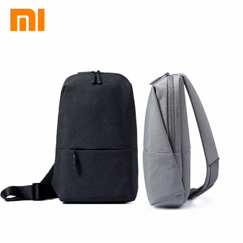 Original Xiaomi mi Backpack Sling Bag Leisure Chest Pack Small Size Shoulder Type Unisex Rucksack Crossbody Bag 4L Polyester image