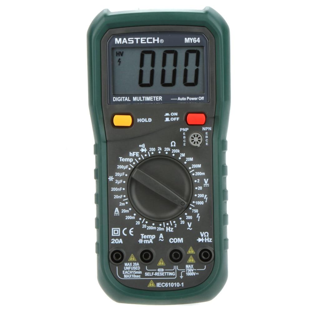 MASTECH MY64 Digital Multimeter DMM Frequency Capacitance Temperature Professional Meter Tester w/ hFE Test Testers Meters grohe смеситель