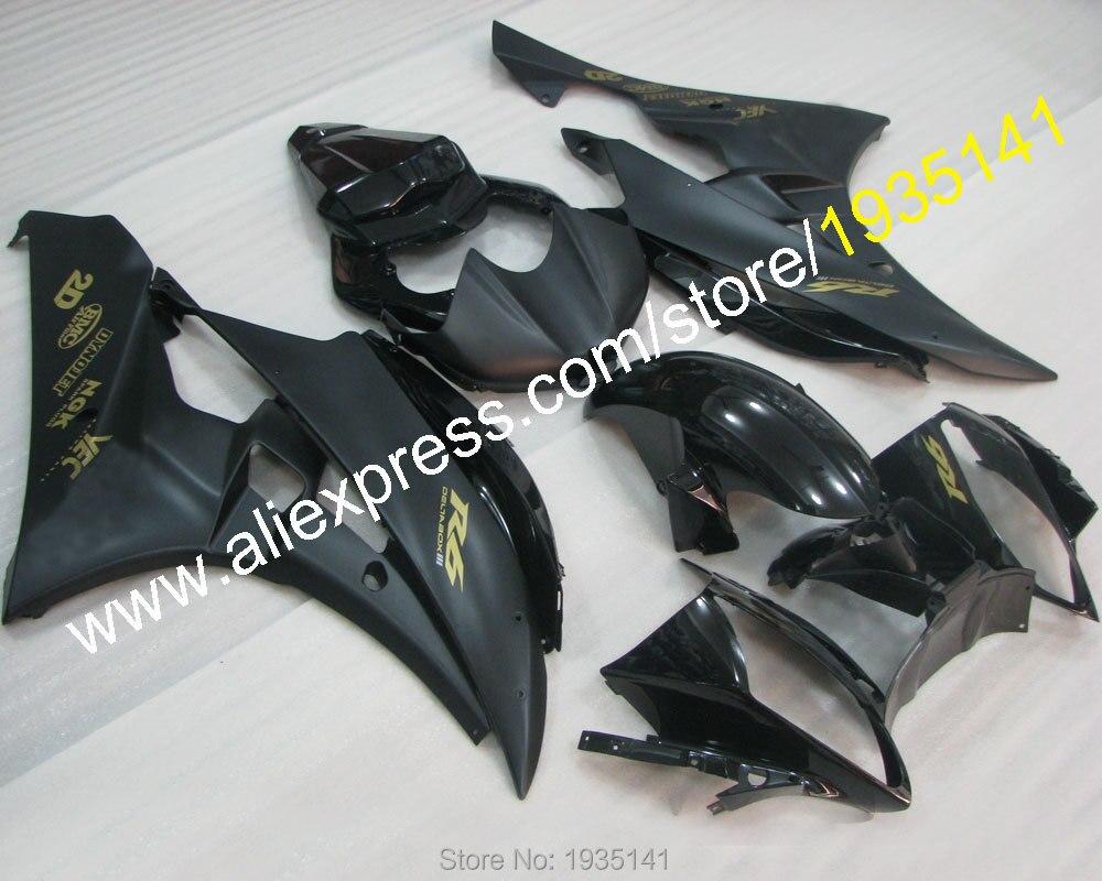 Горячие продаж,новое Прибытие обтекатель для YAMAHA YZFR6 черный кузов 200 2007 и YZF R6 в 06 07 и YZF-R6 в мотоцикл обтекатель (литье под давлением)