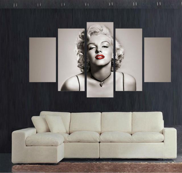 panel large movie star poster hd printed painting marilyn monroe
