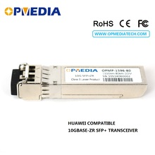 10GBSE-ZR SFP+ transceiver,10G 1550nm 80km SFP+ optical module with dual LC connector and DDM function,compatible with Huawei цены