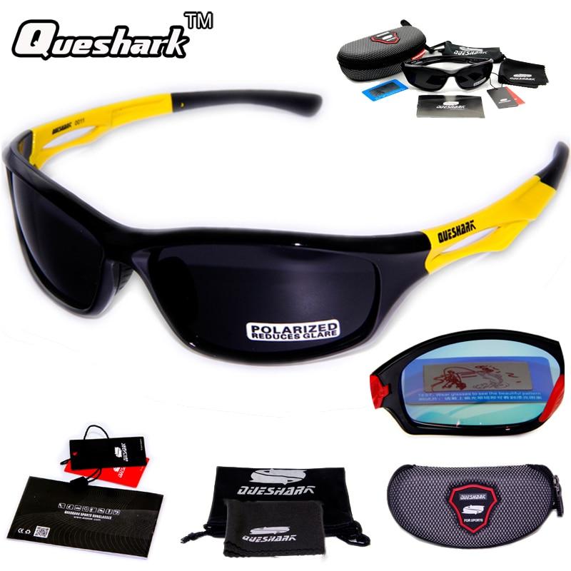 Prix pour Queshark Hommes Femmes Polarisées Vélo lunettes de Soleil TR90 UV400 HD Lunettes De Sport Vélo De Course Vélo Lunettes Pêche Randonnée Lunettes