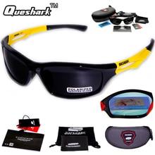 8ba4ae1e0a6 Queshark Men Women Polarized Cycling Sunglasses TR90 UV400 HD Sports  Goggles Racing Bike Bicycle Glasses Fishing Hiking Eyewear