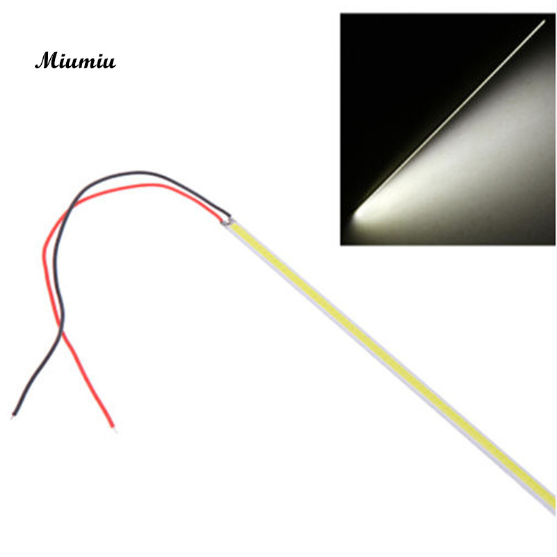 Miumiu Car lighting 1Pcs White 5W LED COB 60 Chip Led Driving Daytime Running Light Lamp Bar Strip Car Day Lights Assembly miumiu car drl daytime running light car day lights assembly 8 led super bright work light bar fog lamp floodlight white