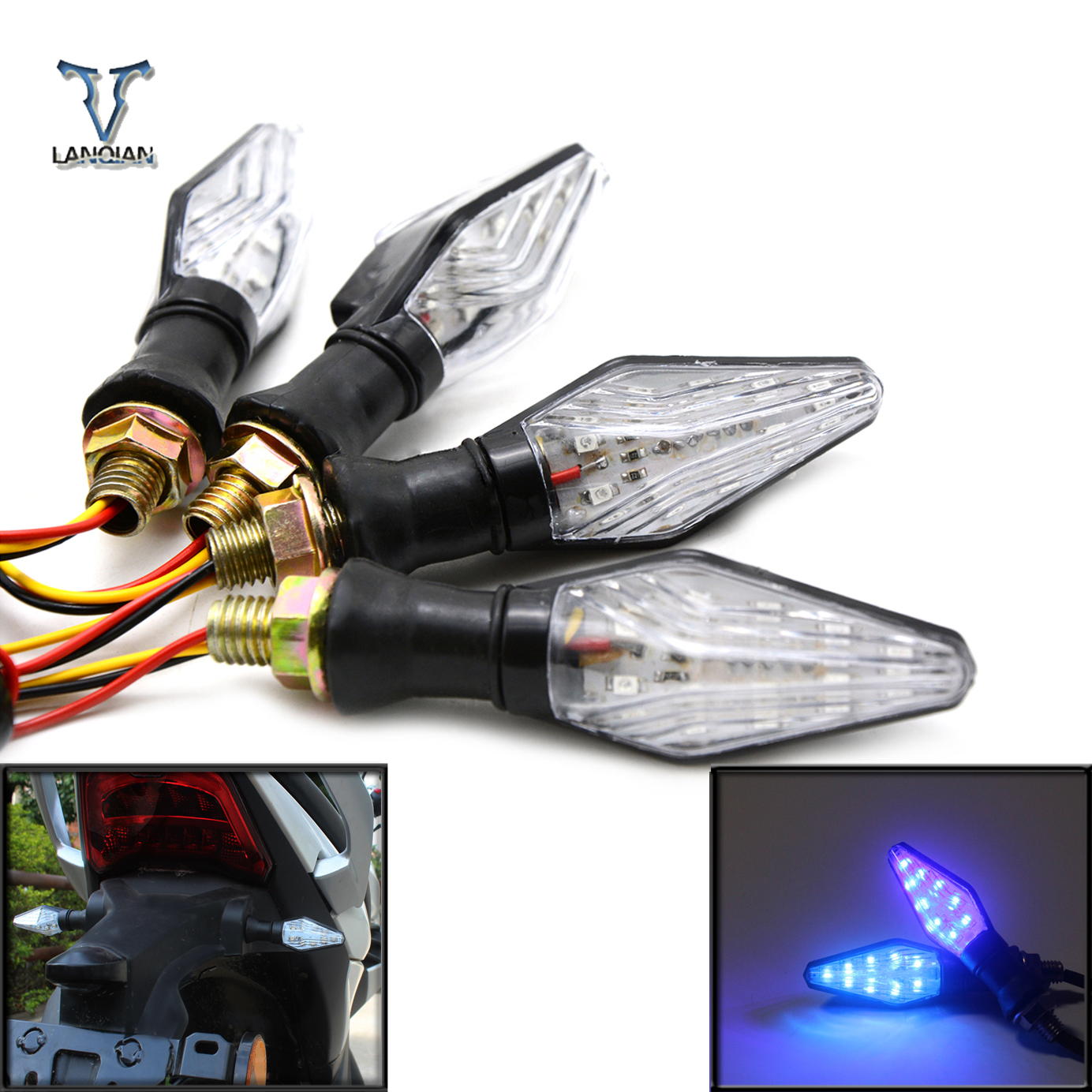 Led Motorcycle turn signals light led lamps sportster for Yamaha FJ 09/MT 09 Tracer MT 10 MT 03 YZF R25 YZF R3 FZ1 FAZER Fazer