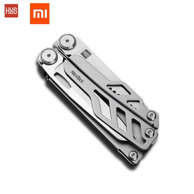 Em estoque, xiaomi huohou multi-função lâmina de aço inoxidável faca de bolso de dobramento 420J2 caça camping ferramenta de sobrevivência de qualidade superior