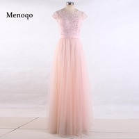 Dressy New Star Vestido De Festa De Casamento A Line Cap Sleeve Lace Tulle Floor Length