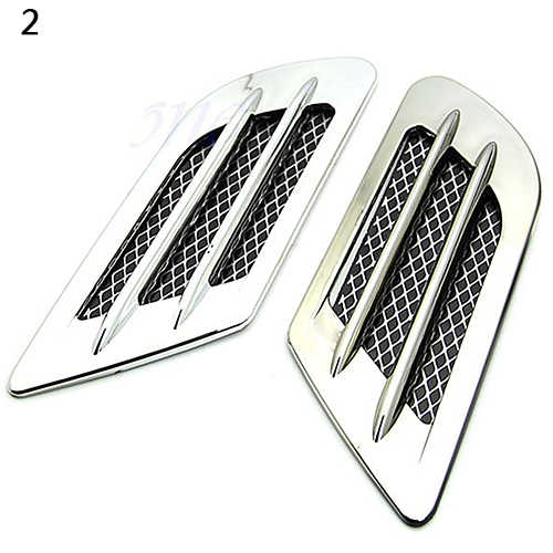 Car Side Air Flow Vent Hole Cover Fender Intake Grille Duct Decoration  Sticker