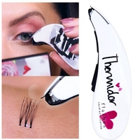 Eyelash Stapler Mini False Eyelashes Natural Curl Eyelash Extensions Fake Lashes Tools Contains 45 Clusters Of