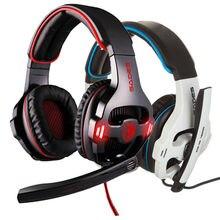 Big sale Sades SA903 7.1 Pro Gaming Headset gamer Wired noise canceling Headband bass game headset Earphones Headphones