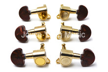 Niko Gold Acrylic Semicircle Acoustic Guitar Tuning Pegs Tuners Machine Head 3L+3R Free Shipping Wholesales