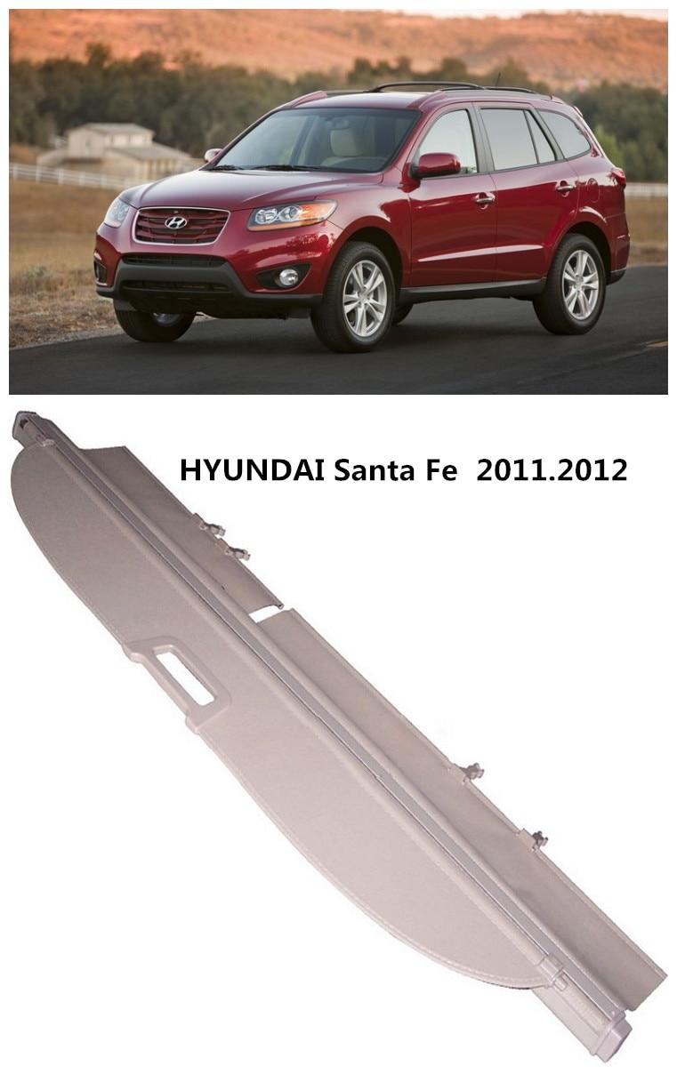For Hyundai Santa Fe 2011 2012 Rear Trunk Security Shield