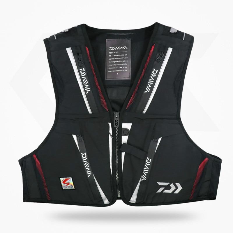 2018 new DAWA Detachable Breathable Life Jacket Vest Fishing Vest Fishing Clothing Fishing Clothes Tackle Flotation Vest AK080 все цены