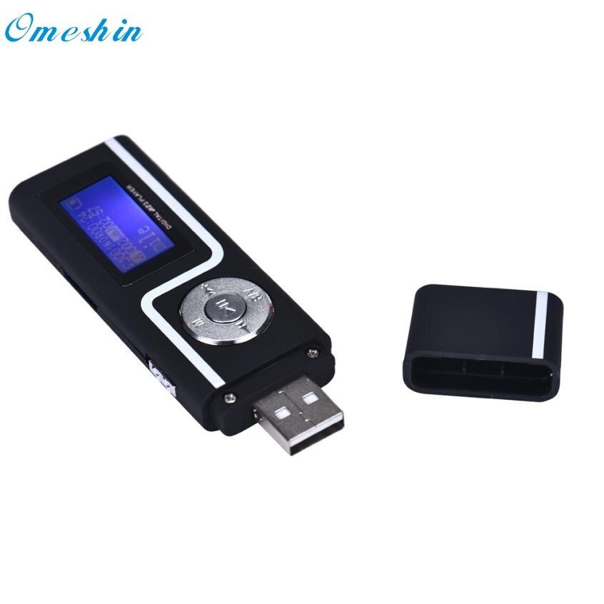 זריז 1 PC USB נייד נגן מוסיקה MP3 תמיכת 16 GB TF כרטיס מסך LCD הדיגיטלי 20MAR17 זרוק משלוח