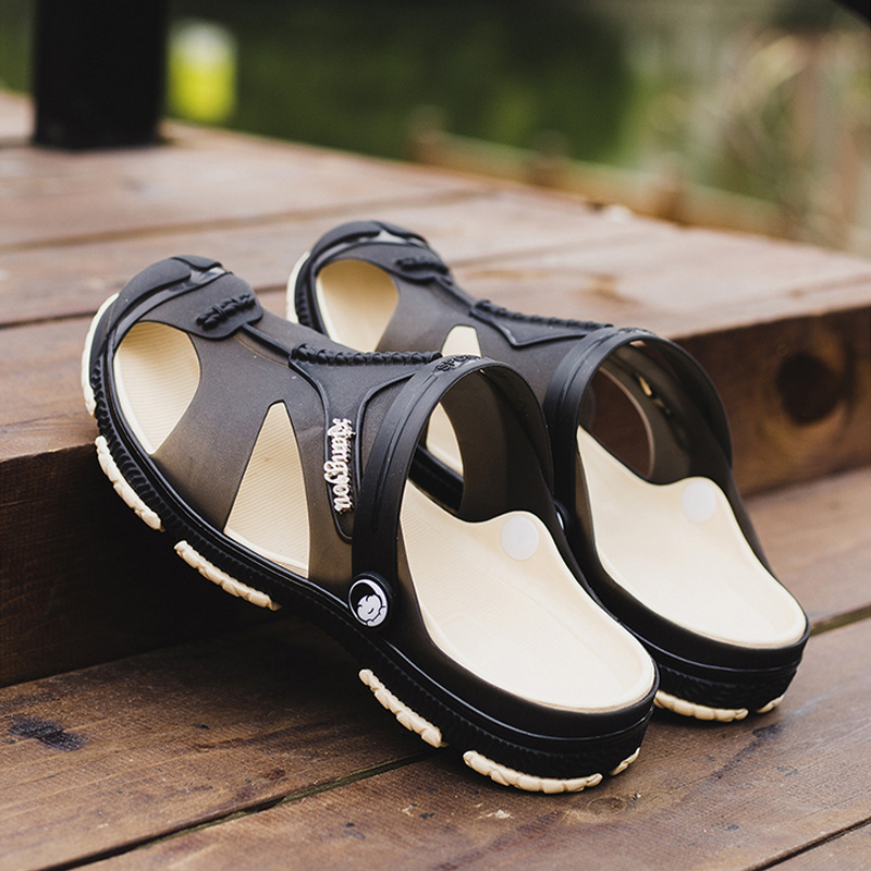 Summer New Men Sandals Outdoor Beach Big Size Comfortable Soft EVA Hollow Out Shoes Wading Casual Men's Slippers(China)