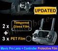 Atualizado HD Lente Da Câmera Película Protetora + Remoto Controlador de Tela do Filme de Vidro Temperado para DJI MAVIC PRO