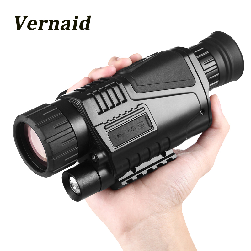 Night-Vision Monocular Professional Infrared Hunting Telescope Digital night vision Monocular telescope with 8GB memory card askco powerful 5x40 digital monocular infrared night vision telescope night vision goggles can takes photos video for hunting