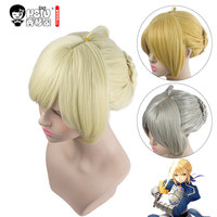 HSIU NEW High Quality Saber Arturia Pendragon Cosplay Wig Of Fate Costume Play Wigs Halloween Costumes