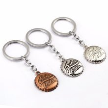 Newest 1 Pcs Hot Cool game Fallout 4 Beer Cap Shape Pendant Keychain Fashion Car Key Ring Nice Gift Key Holder Action figure toy(China)