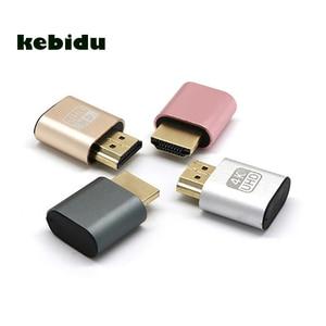 kebidu VGA Virtual Display Adapter HDMI DDC EDID Dummy Plug Headless Ghost Display Emulator Lock Plate Supports Up To 4K