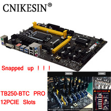 CNIKESIN TB250-BTC PRO 100%New in box 12PCIE for Biostar TB250-BTC TB250 1151 DDR4 motherboard (alternative H81 BTC PRO TB85 H81