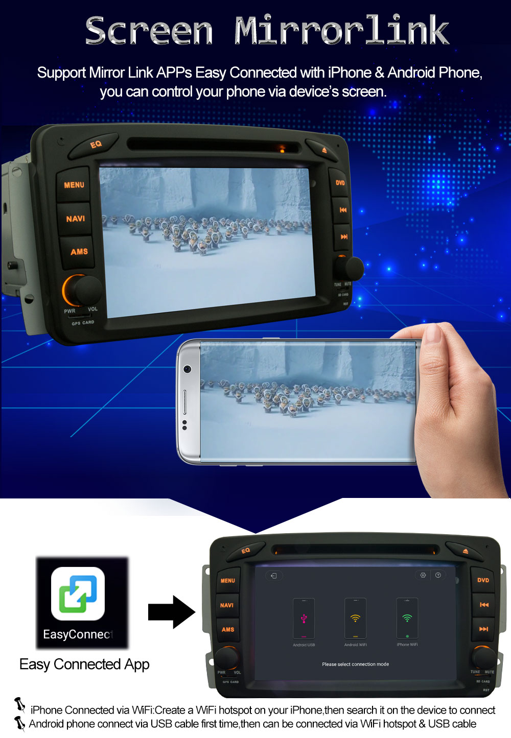 4G LTE Android 8.0 Octa Core 4GB RAM 32GB ROM Car DVD Player GPS ...