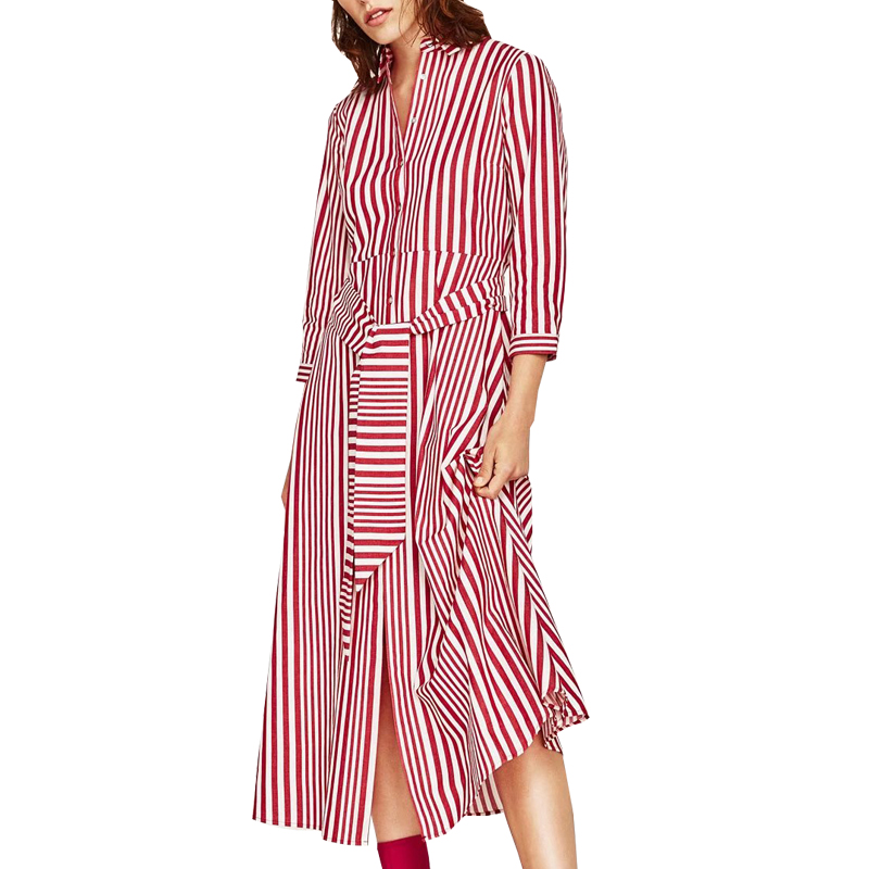 Online Buy Wholesale red white striped dress from China red white ...