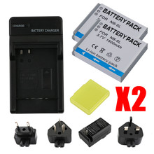 лучшая цена RP NB-6L NB-6LH NB 6L 6LH NB6L Battery + LCD DUAL Charger for Canon IXUS 85 95 IS SX275 SX280 SX510 PowerShot D10 S90 SD1200 200