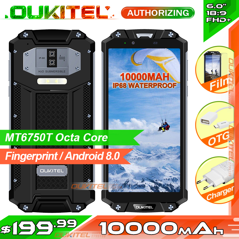 OUKITEL WP2 IP68 Waterproof NFC Smartphone 6 0 18 9 MT6750T Octa Core 4GB RAM 64GB