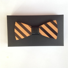 wine bow tie tie for boys Wooden Ties Men's Fashion Wood Bow Tie For Groom Wedding Party Accessories For Men cravat mens