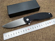 Folding Tactical knife 9CR18 blade outdoor camping knife G10 handle EDC Flipper pocket knife Top quality hand tool
