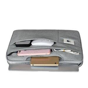 Image 2 - Bolsa para ordenador portátil de 12 15 pulgadas para hombre, maletín para ordenador portátil multifunción, sencillo, para oficina, negocios, Dell, HP