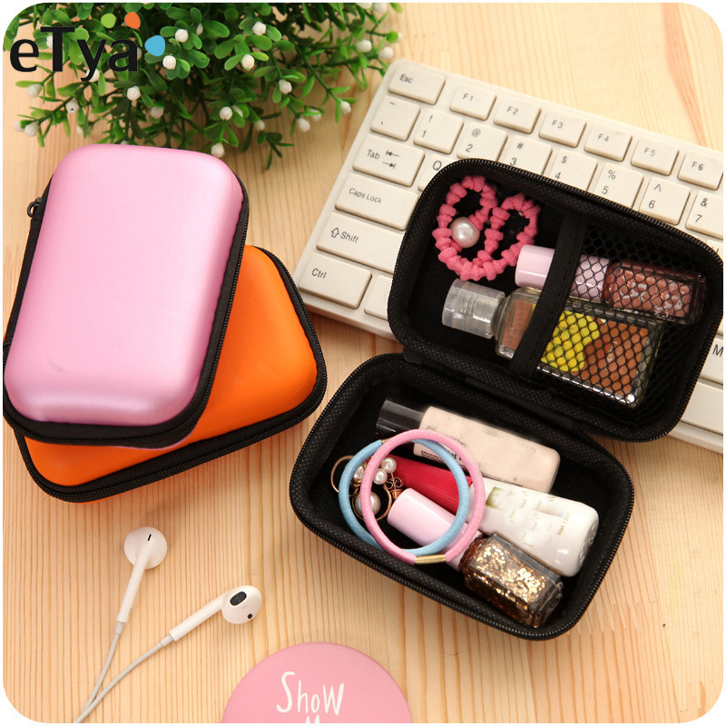 ETya Portable Travel Earphone Electronic SD Card USB Cable Phone Data Line Packing Organizer Bag Pouch Case Travel Accessories