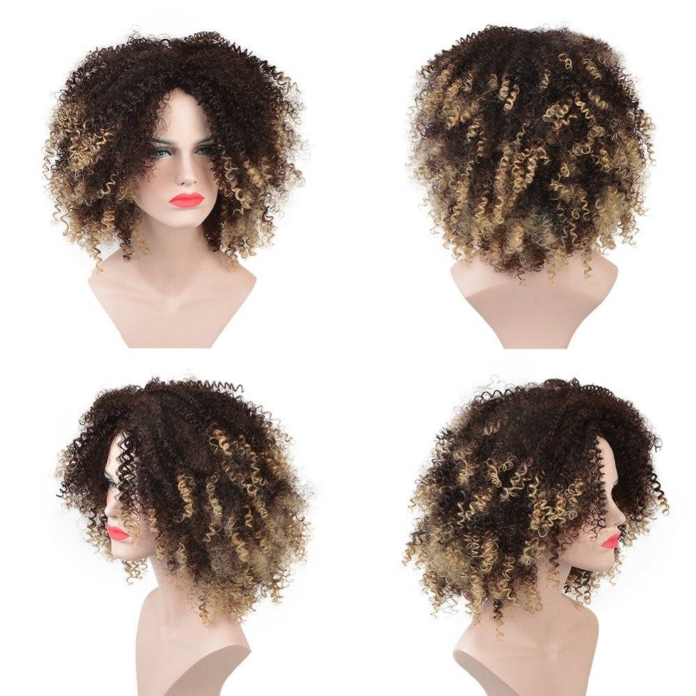 Deyngs Σύντομη Kinky Σγουρή Αφρο Περούκες - Συνθετικά μαλλιά - Φωτογραφία 5