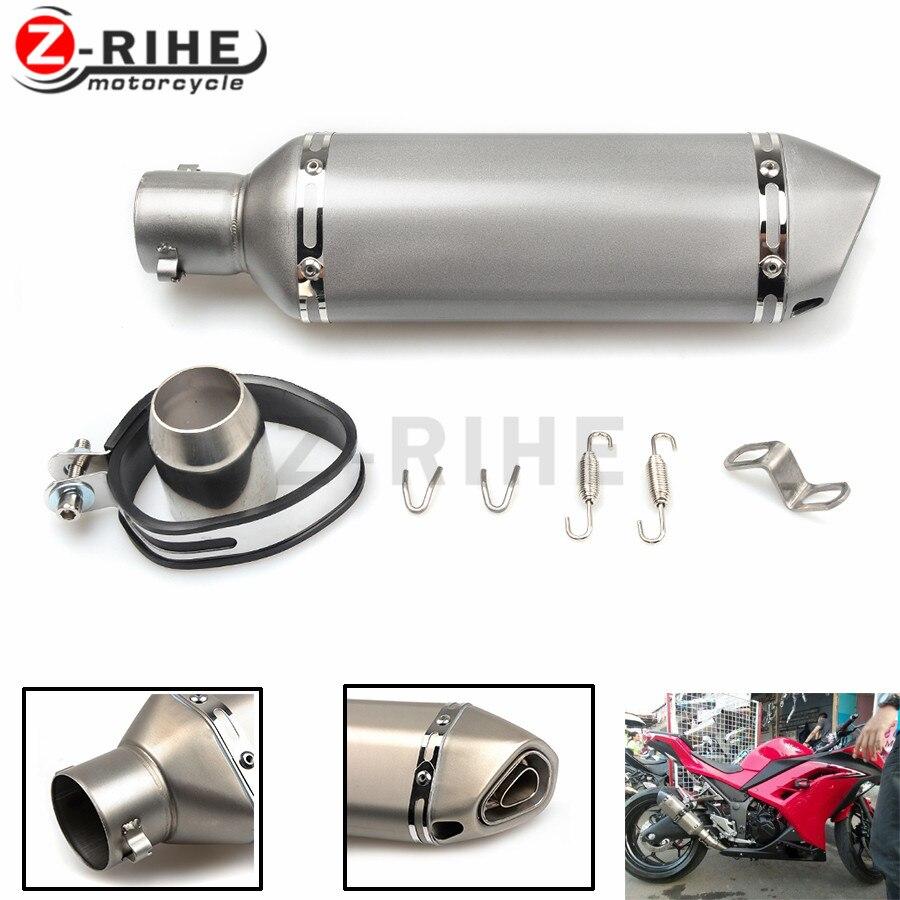 for z800 36-51mm universal Motorcycle Exhaust pipe muffler  For Yamaha FZ6 FAZER FZ6R FZ8 FZ1 FAZER XJ6 DIVERSION MT-07 FZ-