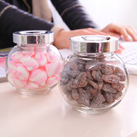 The Kitchen With Cover Glass Sealed Glass Bottle Candy Box Storage Jar Tea Box Kitchen Accessories