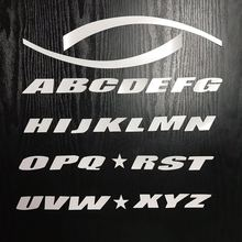 Universal Car Sticker White Car Tire Tread 3D Letter Motorcycle Stickers A-Z 0-9 English Letter Styling DIY Decoration Sticker motorcycle sticker car styling shark car stickers cool letter automobile modeling car decoration