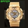 Deporte de los hombres Relojes Relojes de Doble Pantalla Digital Relojes Relogios masculinos Reloj de Estilo Militar Banda de Silicona A Prueba de agua