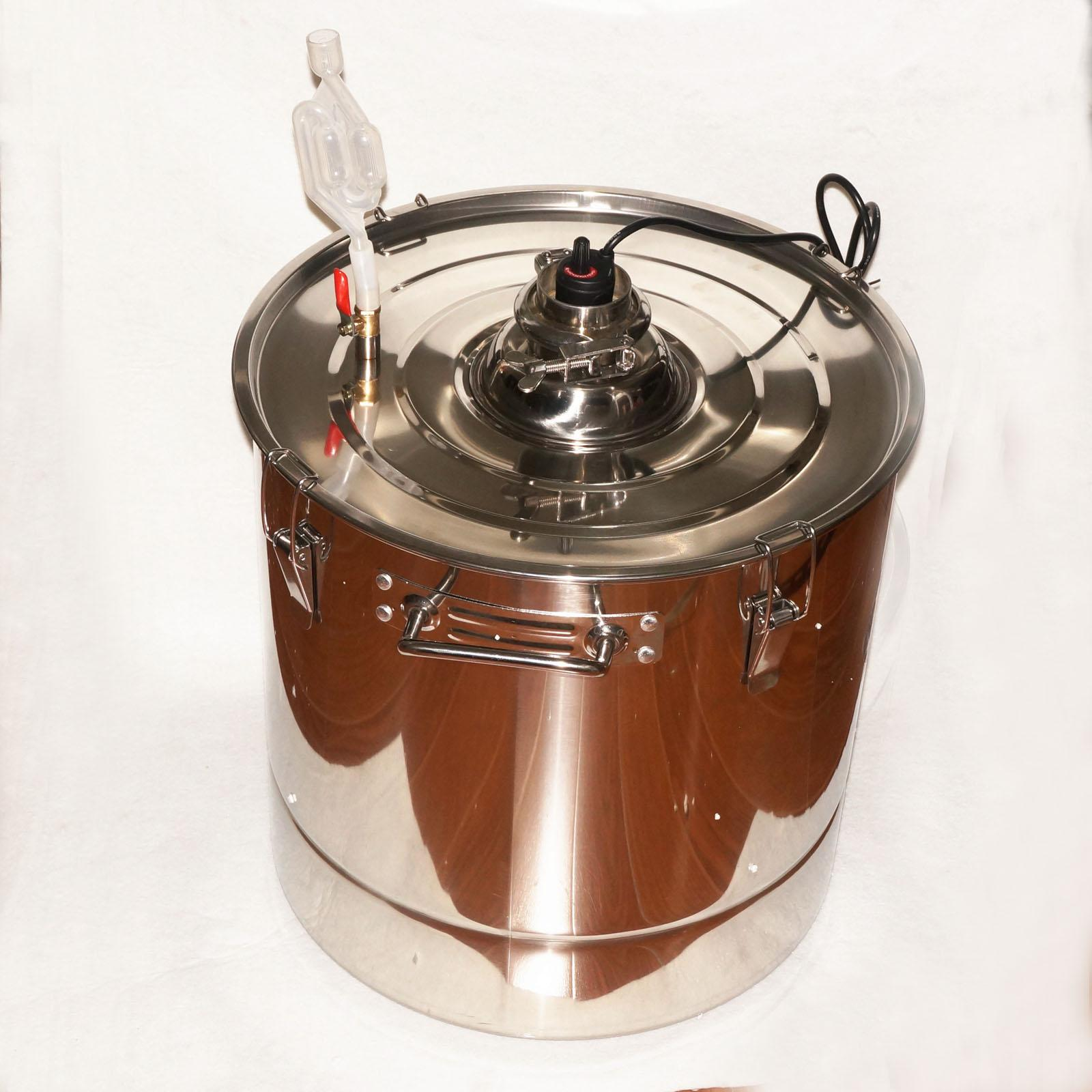 45L 301 Stainless Steel Thermostatic Fermentation Barrel Home Brew Wine Beer45L 301 Stainless Steel Thermostatic Fermentation Barrel Home Brew Wine Beer