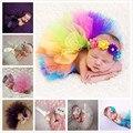 2017new 5 peças/unidade clothing princesa clothing newborn fotografia props bebê ballet saia fotografia bebê por atacado